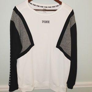 VS PINK Sweatshirt - White/Black/Grey